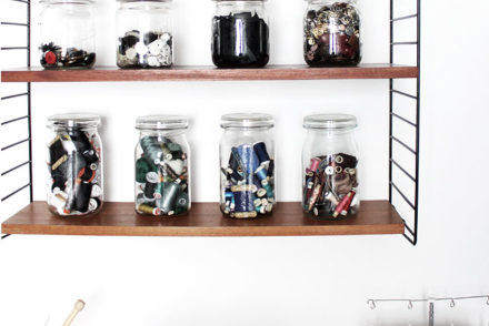 storage at my sewing space