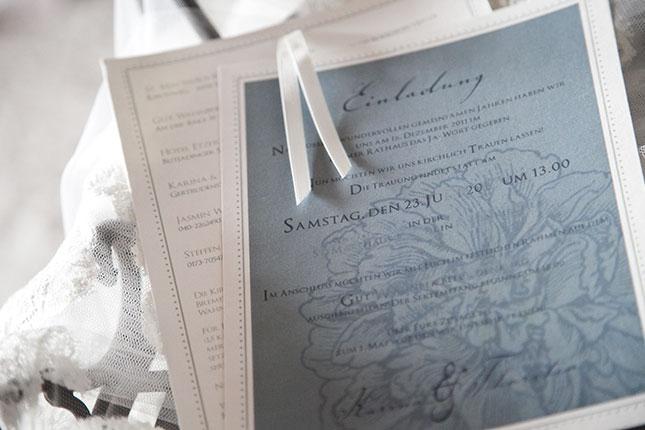 wedding invitation with peony