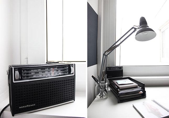 Mein Arbeitszimmer: Vintage Nordmende-Radio