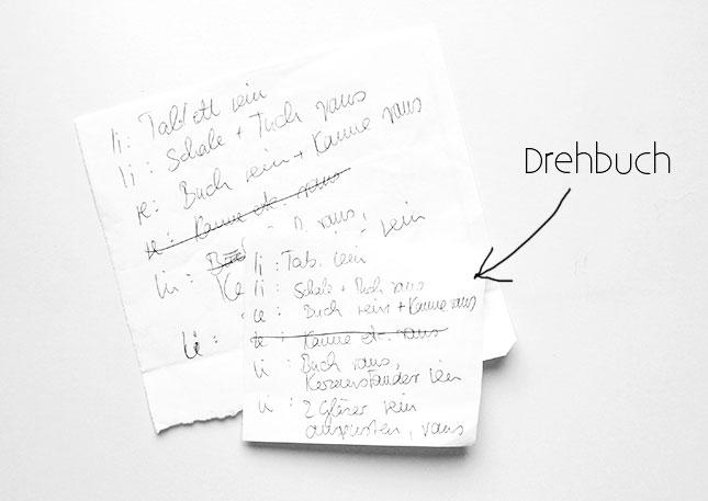"""""""Drehbuch"""" für Videodreh bei AmbienteDirect"""
