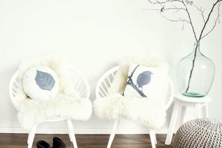 DIY: Herbst-Kissen mit selbst gedruckten Motiven