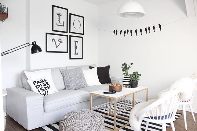 AuBergewohnlich Wohnzimmer Schwarz Weiß Grau 2