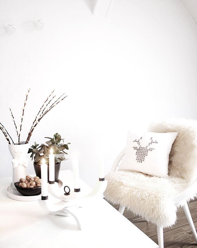 Wohnzimmer im Winter