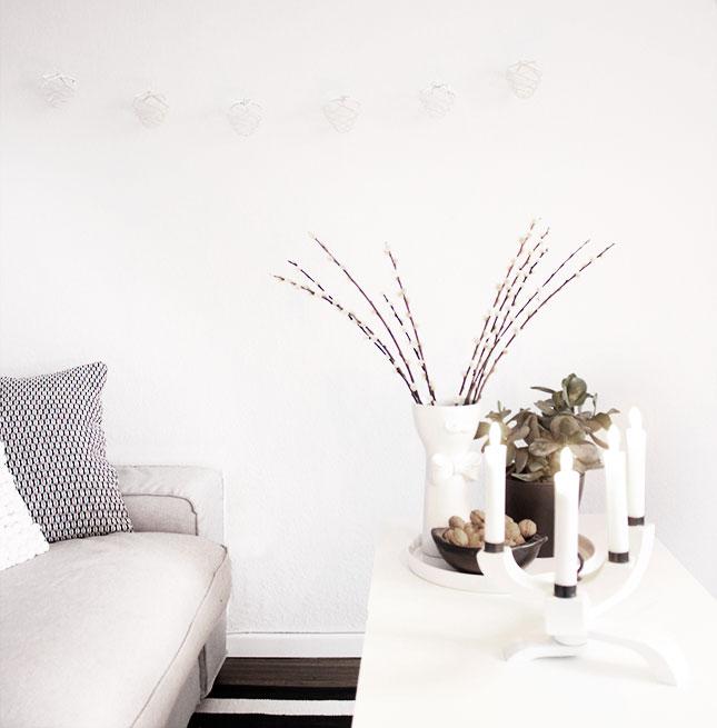 Pina-Girlande von Nordprodukt in meinem Winter-Wohnzimmer