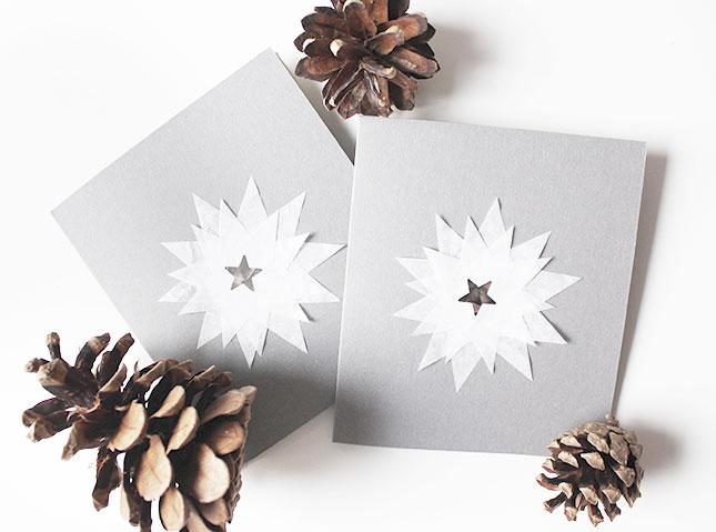 Easy Weihnachtskarten-DIY für Puristen