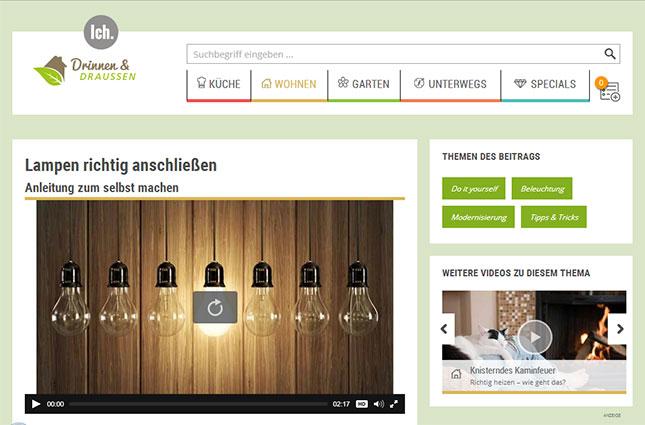 """WDR-Videoportal """"Drinnen und Draußen"""""""