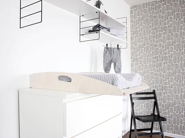 Oh What A Room: Tadaaa: Babyecke Mit Wickeltisch Im ?new Swedish ... Babyecke Im Schlafzimmer Gestalten