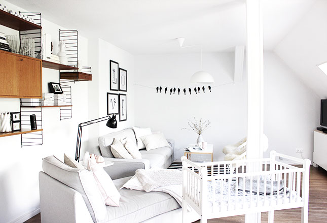 Wohnzimmer g nstig dekorieren for Zimmer deko pastell