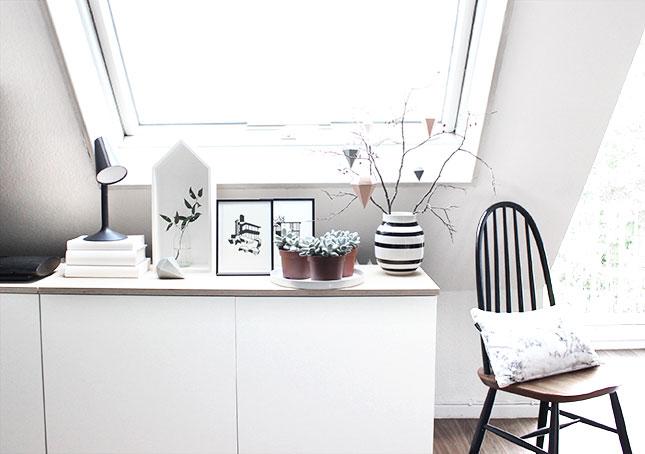 Herbst-Einstand in schwarz-weiß - oh what a room
