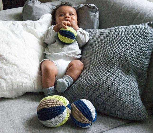 Baby-Spielbälle von Wooltwist