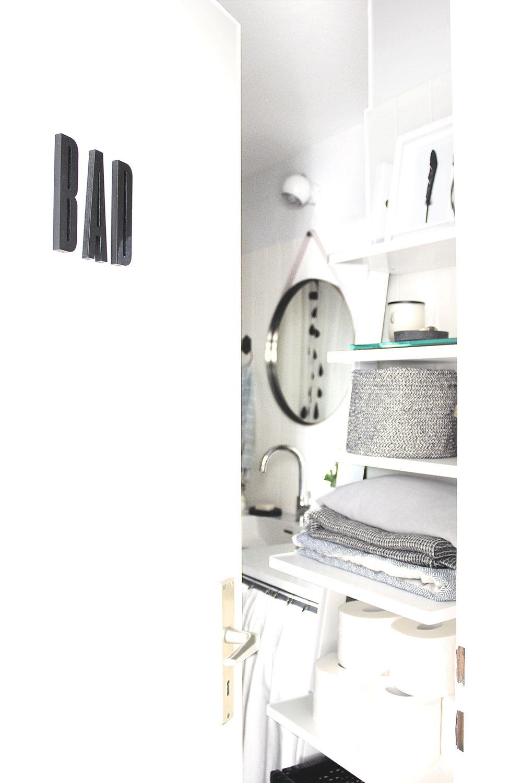 Badezimmer Schwarz Weiß Pastell 3