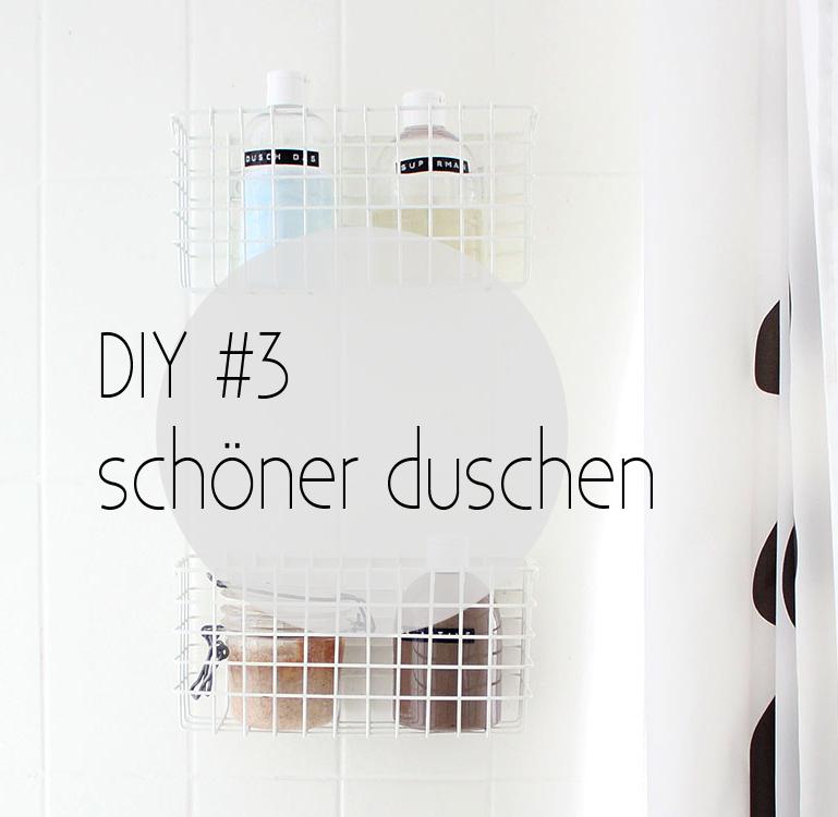 Duschgel- und Schampooflaschen umfüllen und mit Dymo-Tape beschriften