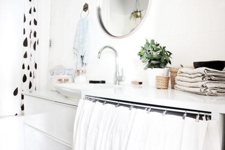 Mein frisch renoviertes Badezimmer mit maßgeschneidertem Waschtisch