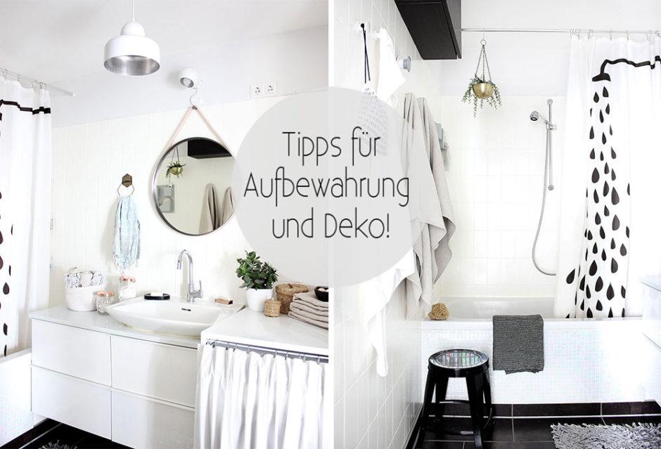 Deko- und Aufbewahrungstipps für das Badezimmer