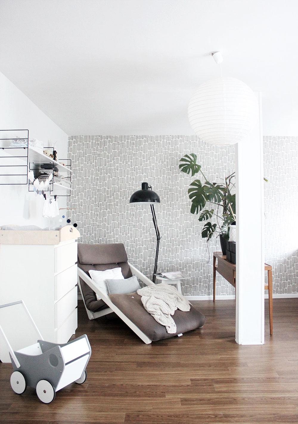 Wickelecke und gemütliche Lounge Liege im Arbeitszimmer