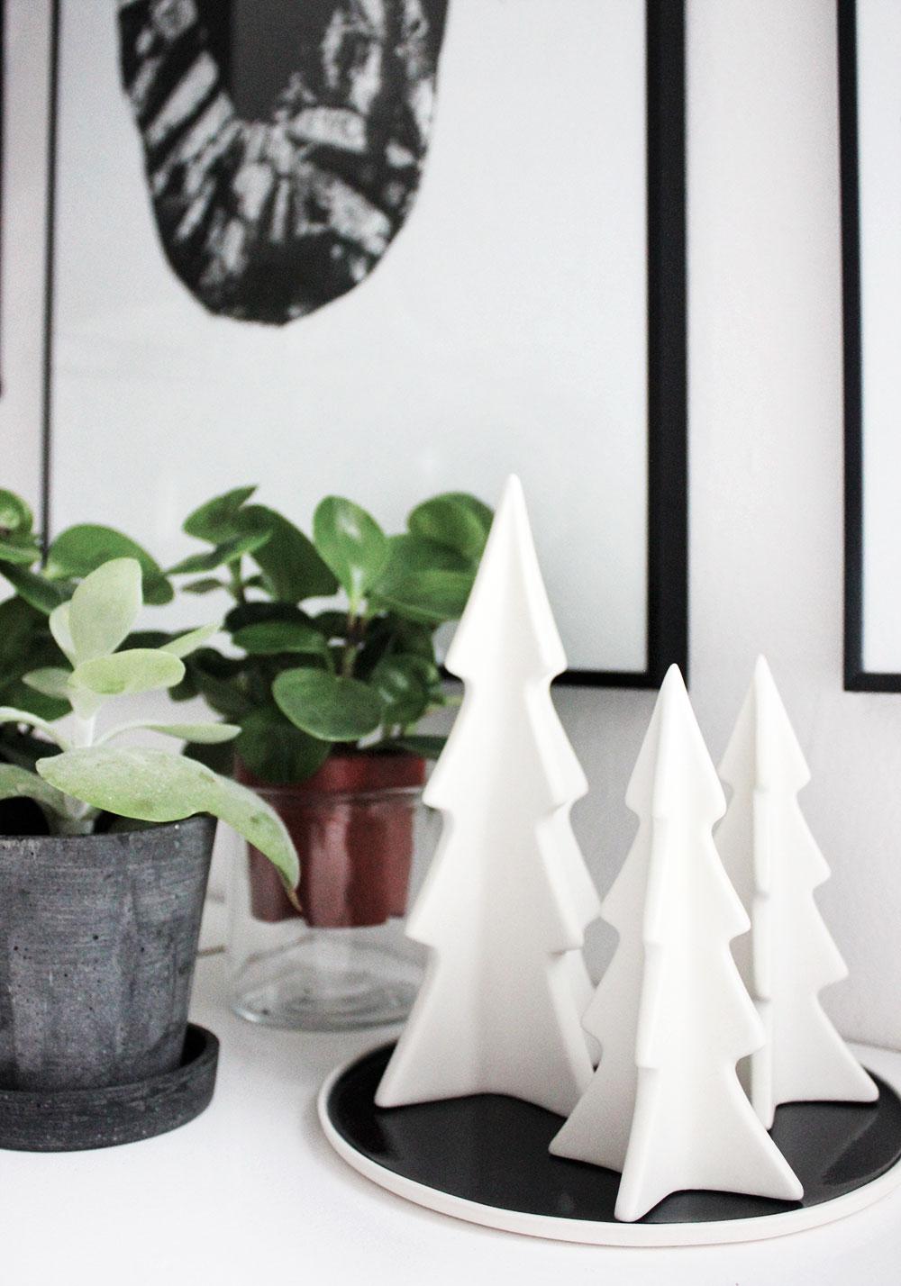 Weihnachtsdeko: Keramikbäumchen von Depot