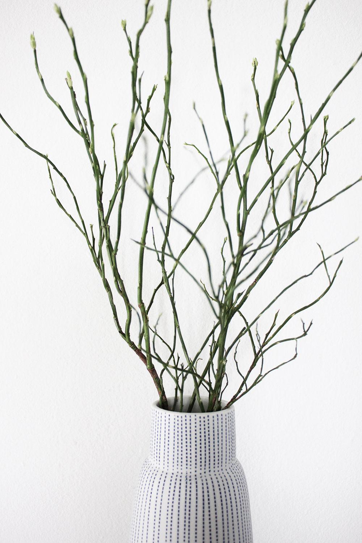 Vase mit Heidelbeere