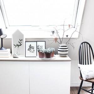 Herbst-Einstand in schwarz-weiß