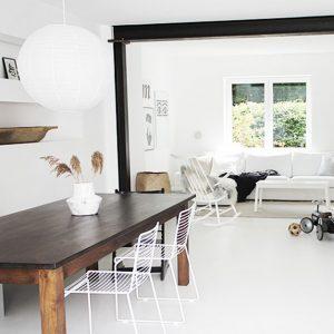 Home Tour durch unser Waldhaus! Mit Tipps fürs minimalistische, aber hyggelige wohnen in weißen Wänden.