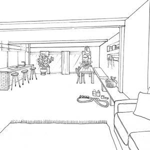 Ein skizzierter Einblick in unser Waldhaus