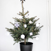 Unser Weihnachtsbaum in schwarz-weiß, meine liebsten X-mas DIYs und mehr…
